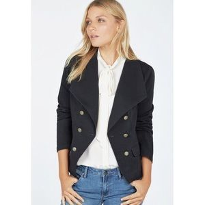 JustFab Gold Buttoned Military Blazer